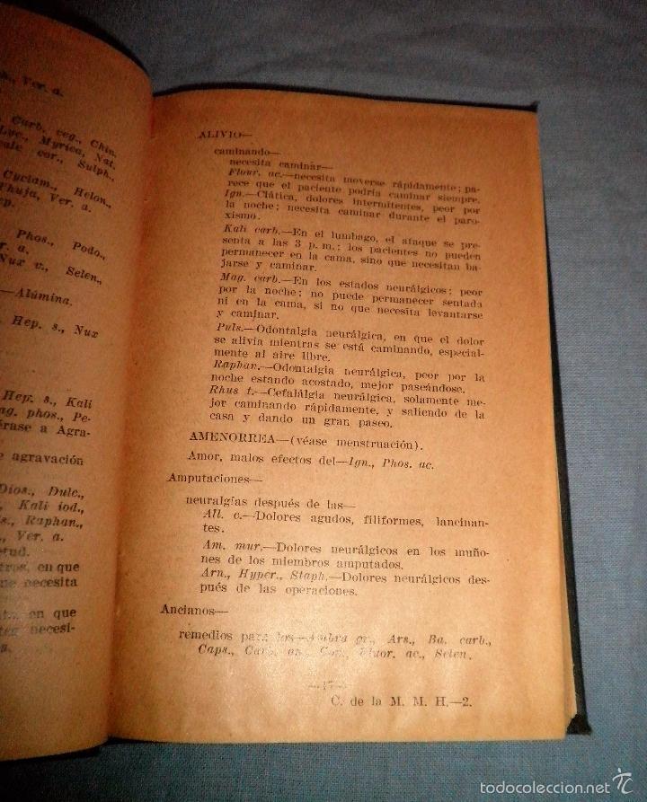 Libros antiguos: MATERIA MEDICA HOMEOPATICA - AÑO 1925 - DR.WILLARD IDE PIERCE · MUY RARO. - Foto 4 - 246485110