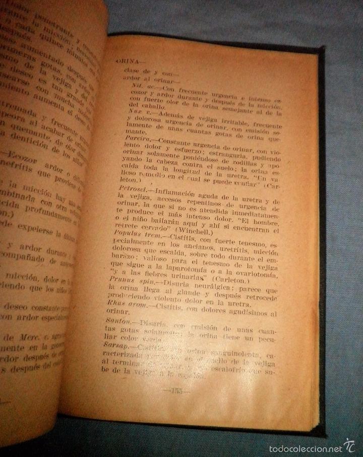 Libros antiguos: MATERIA MEDICA HOMEOPATICA - AÑO 1925 - DR.WILLARD IDE PIERCE · MUY RARO. - Foto 5 - 246485110