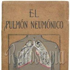 Libros antiguos: EL PULMÓN NEUMÓNICO CARACTERÍSTICAS FÍSICAS Y PATOLOGÍA. DENVER CHEMICAL. NY AÑOS 20 - 30 MEDICINA. Lote 221885680