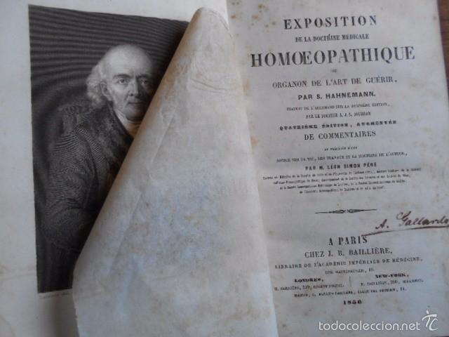 EXPOSITION DOCTRINE MEDICALE HOMOEOPATHIQUE L'ART DE GUÈRIR. HAHNEMANN 1856 HOMEOPATÍA (Libros Antiguos, Raros y Curiosos - Ciencias, Manuales y Oficios - Medicina, Farmacia y Salud)