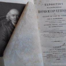 Libros antiguos: EXPOSITION DOCTRINE MEDICALE HOMOEOPATHIQUE L'ART DE GUÈRIR. HAHNEMANN 1856 HOMEOPATÍA . Lote 58766885