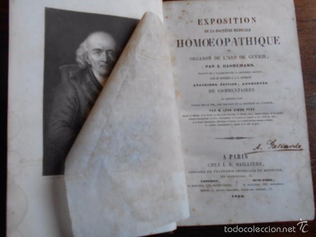 Libros antiguos: Exposition Doctrine Medicale Homoeopathique L'Art de Guèrir. Hahnemann 1856 Homeopatía - Foto 3 - 58766885