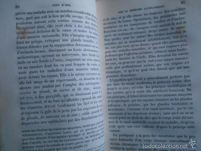 Libros antiguos: Exposition Doctrine Medicale Homoeopathique L'Art de Guèrir. Hahnemann 1856 Homeopatía - Foto 4 - 58766885