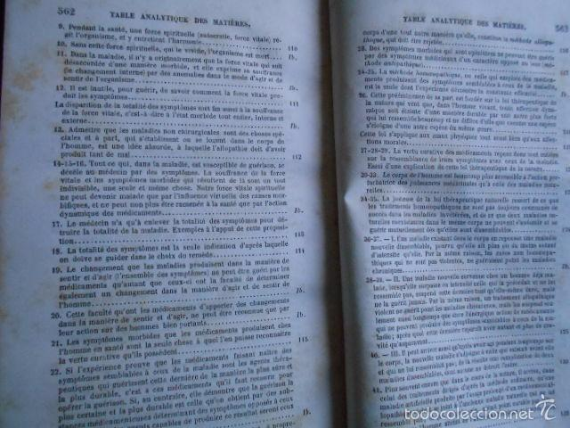 Libros antiguos: Exposition Doctrine Medicale Homoeopathique L'Art de Guèrir. Hahnemann 1856 Homeopatía - Foto 5 - 58766885