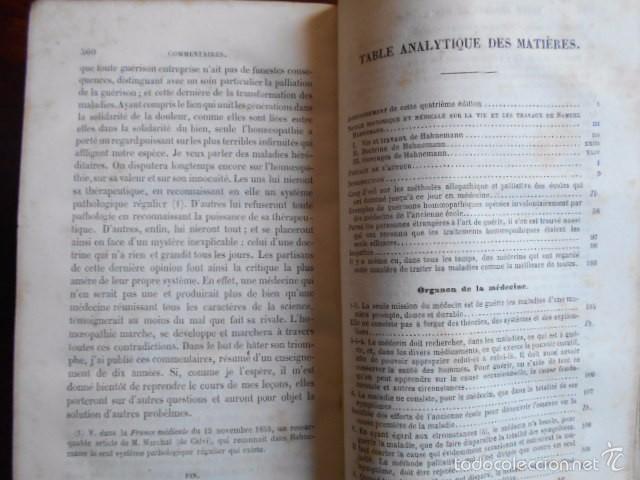 Libros antiguos: Exposition Doctrine Medicale Homoeopathique L'Art de Guèrir. Hahnemann 1856 Homeopatía - Foto 6 - 58766885