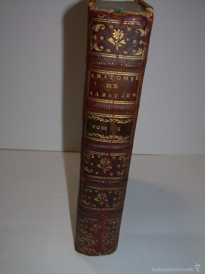 LIBRO TAPAS DE PIEL......TRATADO COMPLETO DE ANATOMIA (FRANCES).......AÑO. 1.775 (Libros Antiguos, Raros y Curiosos - Ciencias, Manuales y Oficios - Medicina, Farmacia y Salud)