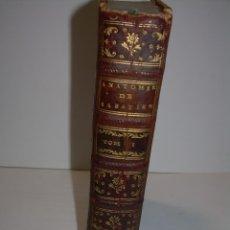 Libros antiguos: LIBRO TAPAS DE PIEL......TRATADO COMPLETO DE ANATOMIA (FRANCES).......AÑO. 1.775. Lote 59072490