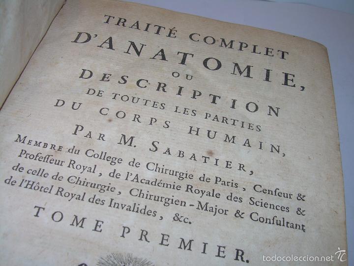 Libros antiguos: LIBRO TAPAS DE PIEL......TRATADO COMPLETO DE ANATOMIA (FRANCES).......AÑO. 1.775 - Foto 6 - 59072490