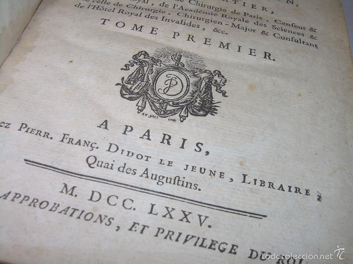 Libros antiguos: LIBRO TAPAS DE PIEL......TRATADO COMPLETO DE ANATOMIA (FRANCES).......AÑO. 1.775 - Foto 7 - 59072490