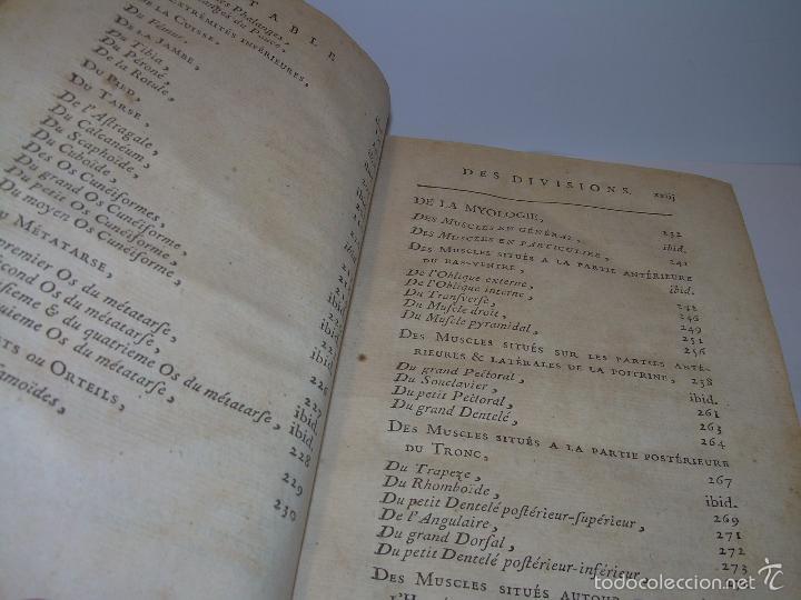 Libros antiguos: LIBRO TAPAS DE PIEL......TRATADO COMPLETO DE ANATOMIA (FRANCES).......AÑO. 1.775 - Foto 10 - 59072490