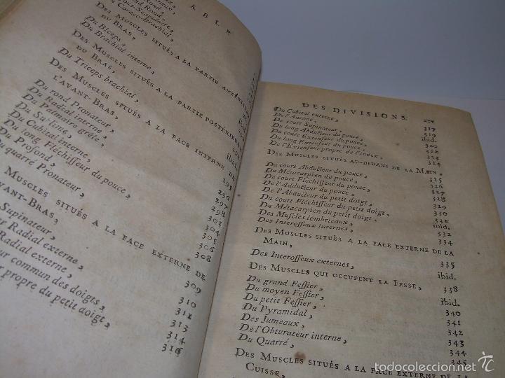 Libros antiguos: LIBRO TAPAS DE PIEL......TRATADO COMPLETO DE ANATOMIA (FRANCES).......AÑO. 1.775 - Foto 11 - 59072490