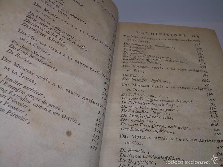 Libros antiguos: LIBRO TAPAS DE PIEL......TRATADO COMPLETO DE ANATOMIA (FRANCES).......AÑO. 1.775 - Foto 12 - 59072490