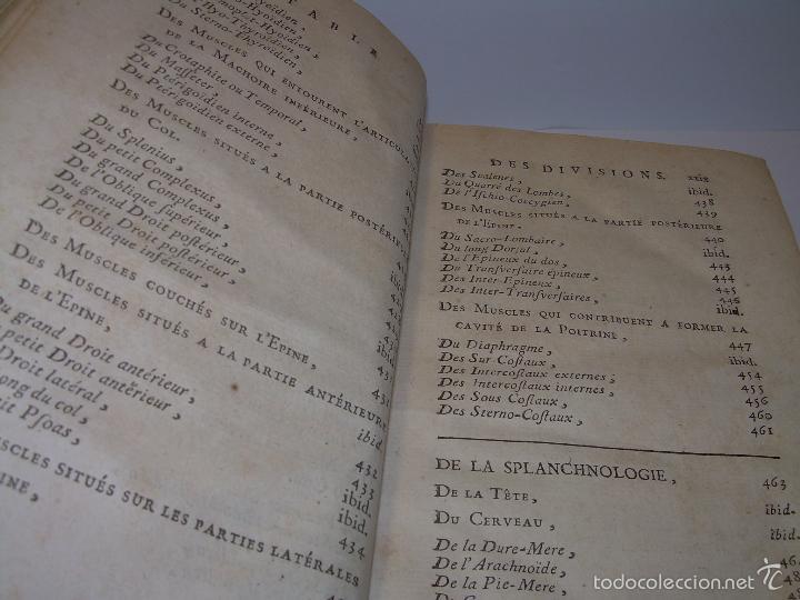 Libros antiguos: LIBRO TAPAS DE PIEL......TRATADO COMPLETO DE ANATOMIA (FRANCES).......AÑO. 1.775 - Foto 13 - 59072490