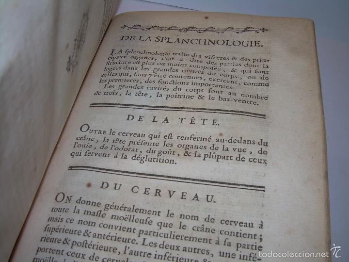 Libros antiguos: LIBRO TAPAS DE PIEL......TRATADO COMPLETO DE ANATOMIA (FRANCES).......AÑO. 1.775 - Foto 16 - 59072490