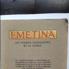Libros antiguos - Emetina - sus diversas aplicaciones en Clinica - 1931 - 59300660