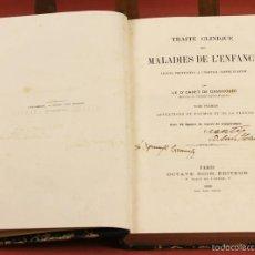 Libros antiguos: 7891 - TRAITÉ CLINIQUE DES MALADIES DE L'ENFANCE. CADET DE GASSICOURT. EDIT. OCTAVE DOIN. 1880.. Lote 59830536