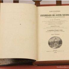 Libros antiguos: 7897 - ENFERMEDADES DEL SISTEMA NERVIOSO. TOMO I. CHARCOT. IMP. PÉREZ DUBRULL. 1882.. Lote 59839572