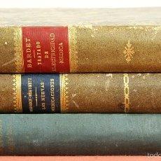 Libros antiguos: 7901 - EDITORIAL CARLOS BAILLY-BAILLIERE. 3 VOLUMENES (VER DESCRIPCIÓN). 1870/1890.. Lote 59886539