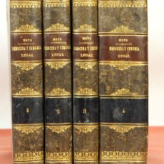 Libros antiguos: 7910 - MEDICINA Y CIRUGIA LEGAL. IV TOMOS(VER DESCRIP). MATA. EDI. BAILLY-BAILLIERE. 1874/75.. Lote 59905147