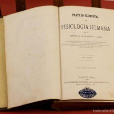 Libros antiguos: 7916 - TRATADO ELEMENTAL DE FISIOLOGÍA HUMANA. TOMO I. JUAN MAGAZ. TIP. NARCISO R. 1871.. Lote 59948595