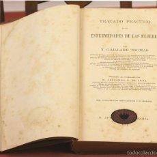 Libros antiguos: 7919 - TRATADO PRÁCTICO DE LAS ENFERMEDADES DE LAS MUJERES. GAILLARD. IMP. OLIVERES. 1879.. Lote 59950595