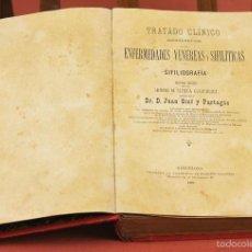 Libros antiguos: 7939 - ENFERMEDADES VENÉREAS Y SIFILÍTICAS. JUAN GINÉ. TIP. EVARISTO ULLASTRES. 1883.. Lote 60060191