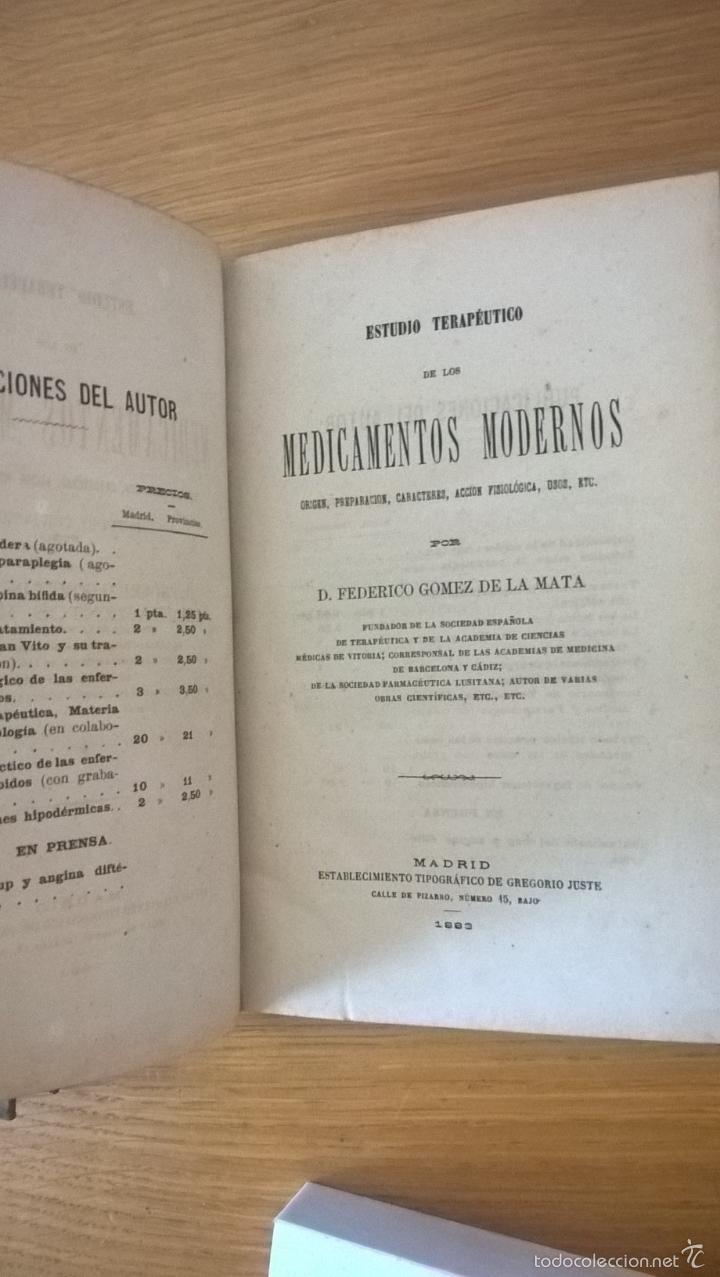 Libros antiguos: Farmacia. Lecciones de farmacéutica vegetal + estudio de medicamentos modernos. 1882-83 - Foto 3 - 60169623