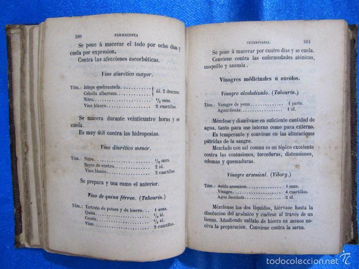 Libros antiguos: FORMULARIO UNIVERSAL DE VETERINARIA. NICOLÁS CASAS DE MENDOZA. LIBRERÍA DE D. PABLO CALLEJA, 1868. - Foto 5 - 60340639