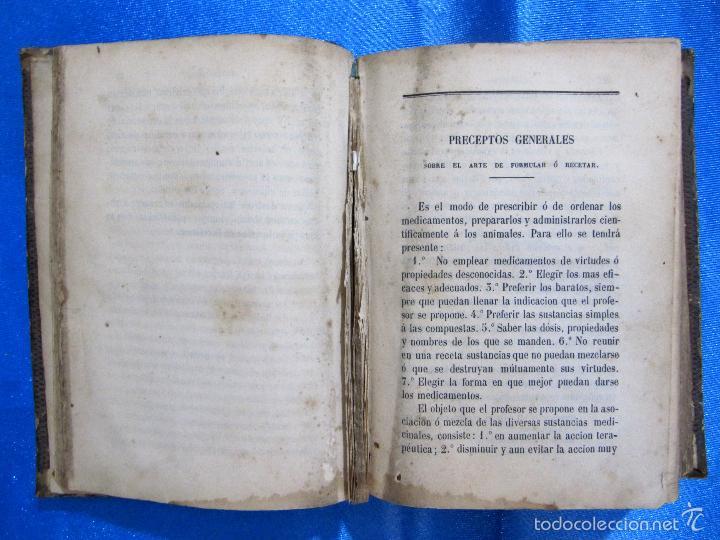 Libros antiguos: FORMULARIO UNIVERSAL DE VETERINARIA. NICOLÁS CASAS DE MENDOZA. LIBRERÍA DE D. PABLO CALLEJA, 1868. - Foto 6 - 60340639