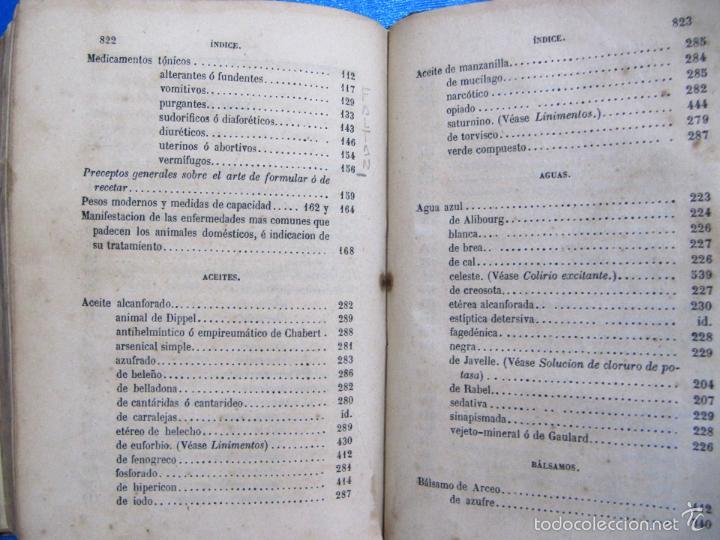 Libros antiguos: FORMULARIO UNIVERSAL DE VETERINARIA. NICOLÁS CASAS DE MENDOZA. LIBRERÍA DE D. PABLO CALLEJA, 1868. - Foto 9 - 60340639
