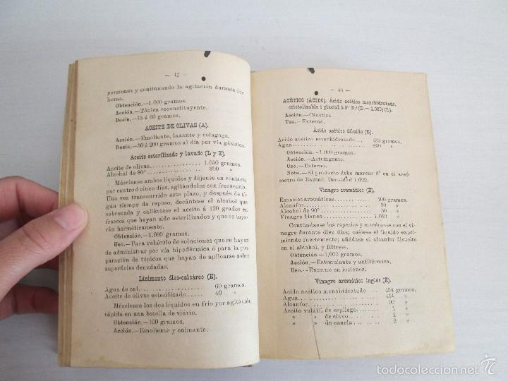 Libros antiguos: PETITORIO - FORMULARIO. MEDICO - FARMACEUTICO. FARMACIAS MILITARES DEL EJERCITO EPAÑOL. 1907 - Foto 14 - 60437991