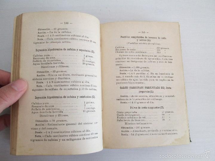 Libros antiguos: PETITORIO - FORMULARIO. MEDICO - FARMACEUTICO. FARMACIAS MILITARES DEL EJERCITO EPAÑOL. 1907 - Foto 15 - 60437991