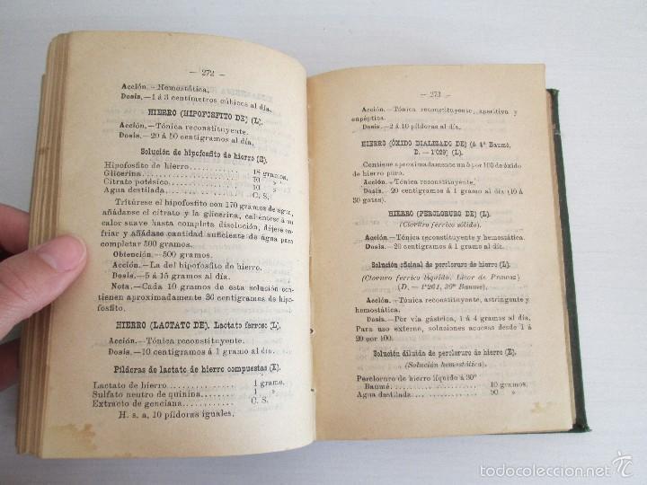 Libros antiguos: PETITORIO - FORMULARIO. MEDICO - FARMACEUTICO. FARMACIAS MILITARES DEL EJERCITO EPAÑOL. 1907 - Foto 16 - 60437991