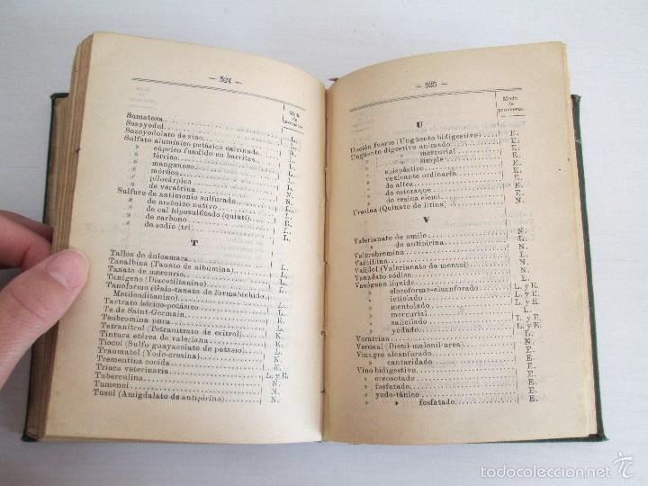 Libros antiguos: PETITORIO - FORMULARIO. MEDICO - FARMACEUTICO. FARMACIAS MILITARES DEL EJERCITO EPAÑOL. 1907 - Foto 18 - 60437991