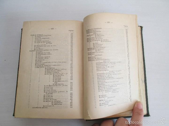 Libros antiguos: PETITORIO - FORMULARIO. MEDICO - FARMACEUTICO. FARMACIAS MILITARES DEL EJERCITO EPAÑOL. 1907 - Foto 21 - 60437991