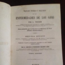 Libros antiguos: TRATADO ENFERMEDADES DE LOS OJOS, WECKER. Lote 62730500