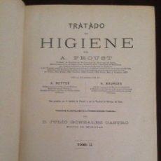 Libros antiguos: TRATADO DE HIGIENE, PROUST. Lote 62731124