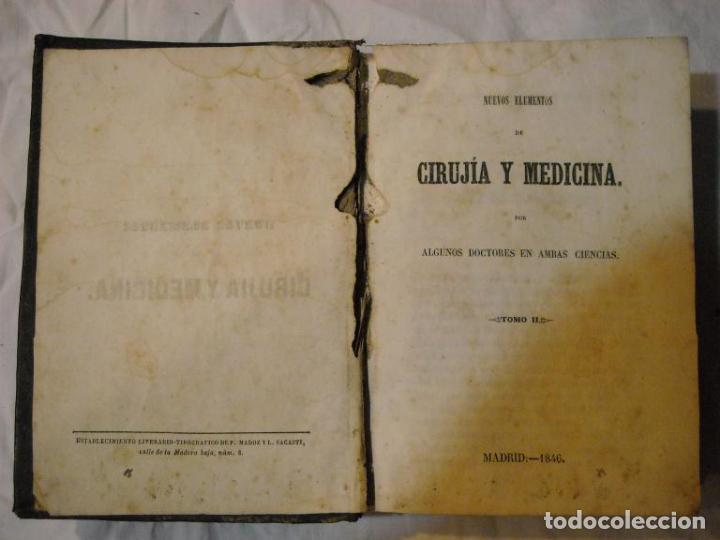 CIRUJÍA Y MEDICINA AÑO 1846 (Libros Antiguos, Raros y Curiosos - Ciencias, Manuales y Oficios - Medicina, Farmacia y Salud)