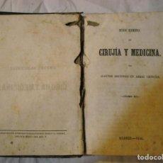 Libros antiguos: CIRUJÍA Y MEDICINA AÑO 1846. Lote 62732664