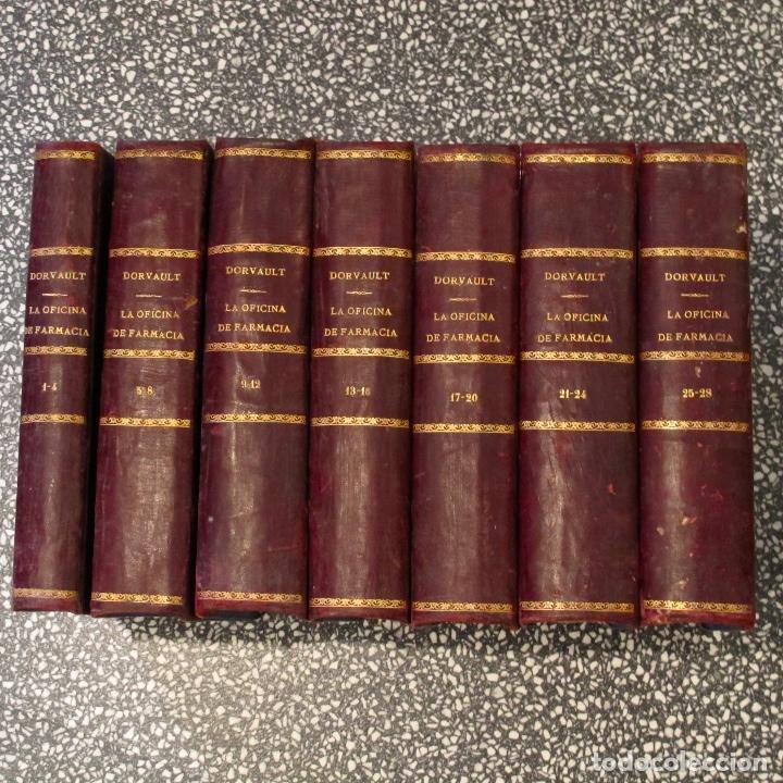 LIBRO ANTIGUO LA OFICINA DE FARMACIA DORVAULT 1880 BAILLIERE PONTES Y ROSALES MADRID SUPLEMENTO (Libros Antiguos, Raros y Curiosos - Ciencias, Manuales y Oficios - Medicina, Farmacia y Salud)