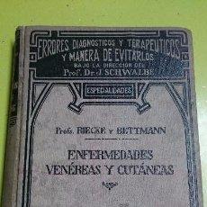 Libros antiguos: ENFERMEDADES VENEREAS Y CUTANEAS. Lote 64401583