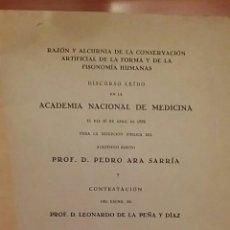 Libros antiguos: DISCURSO EN ACADEMIA NACIONAL DE MEDICINA. PROFESOR PEDRO ARA SARRIA. 1936. Lote 69782282