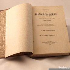 Libros antiguos: ANTIGUO LIBRO HISTOLOGIA NORMAL.. RAMON Y CAJAL. Lote 71502175