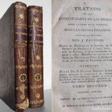 Libros antiguos: TRATADO DE LAS ENFERMEDADES DE LAS MUGERES / MUJERES DESDE LA EDAD DE LA PUBERTAD (MADRID, 1821)- 2T. Lote 72781871