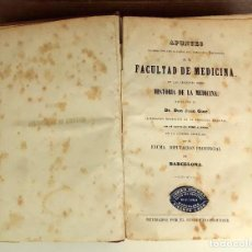 Libros antiguos: 8309 - APUNTES DE LA FACULTAD DE MEDICINA. J. GINÉ. LIB. CIENTIFICA PATIO DEL HOSPITAL. 1888/89.. Lote 73019771