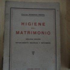 Libros antiguos: HIGIENE DEL MATRIMONIODOCTOR MASERAS RIBERALIBRERÍA SINTES1925 2ª EDICIÓN316PÁGINAS19 X 12. Lote 73024363