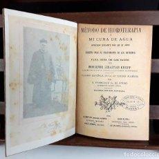 Libros antiguos: 8315 - MÉTODO DE HIDROTERAPIA. SEBASTIÁN KNEIPP. EDIT. JUAN GILI. 1894.. Lote 73291619
