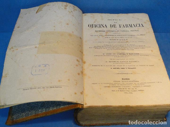Libros antiguos: BOTICA: LA OFICINA DE FARMACIA.--DORVAULT( 1ª edi.ESPAÑOLA DE LA 7ª FRANCESA) - Foto 2 - 73323047