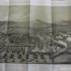 Libros antiguos: 1877 EL MANICOMIO DE SAN BAUDILIO DE LLOBREGAT CON UNA GRAN LAMINA DESPLEGABLE DEL CENTRO 40X60CM. Lote 73667591