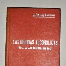 Libros antiguos: MANUALES SOLER LAS BEBIDAS ALCOHOLICAS EL ALCOHOLISMO. Lote 74198011